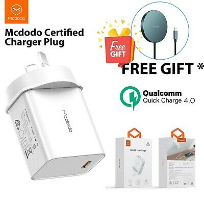 AU39.99 • Buy MCDODO 20W Quick Charge Fast Universal Wall Charger Plug For IPhone 12/Pro/Max