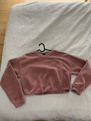 Iets Frans Sweatshirt Cropped With Adjustable Waist Size Small • 12£