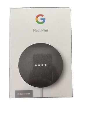 AU30 • Buy Google Nest Mini 2nd Generation Smart Speaker Home Assistant - Charcoal