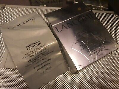 Lancome Foundation Miracle Cushion Liquid Compact Refill 01 Pure Porcelaine NEW • 14.99£