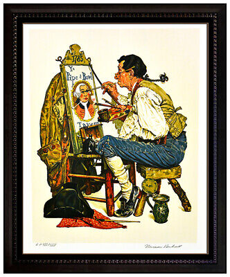 $ CDN4430.41 • Buy Norman Rockwell Ye Pipe And Bowl Lithograph Hand Signed Portrait Illustration