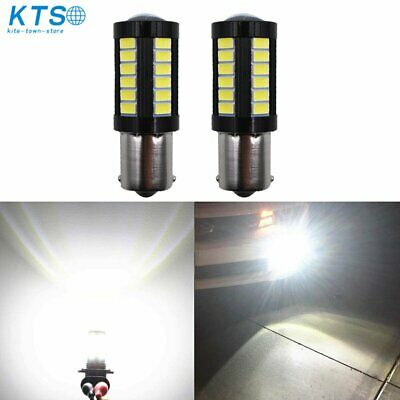 $7.88 • Buy 2X 1156 3014 High Power 33 SMD 6000K White Tail Brake Stop LED Lights Bulbs US