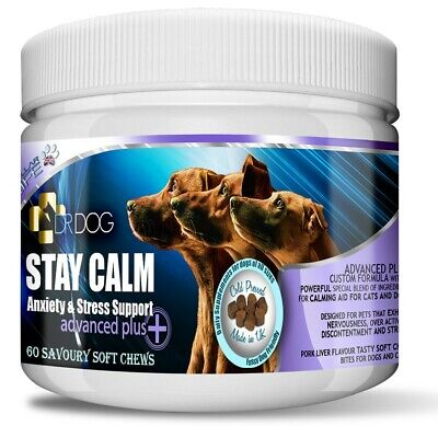 £17.99 • Buy DR DOG Anxiety Stress Calming Supplement - Soft Chews Treats Dogs Tablets