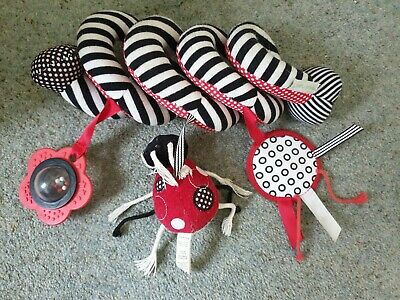 Red And Black Ladybird Twist Baby Pram, Car Seat Rattle, Excellent Condition • 5£