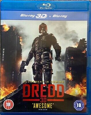 Dredd Blu-Ray And Blu-Ray 3D (2013) - Excellent Condition • 3.99£