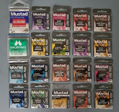 Mustad Match Fishing Hooks For Float Feeder Or Pole All Patterns & Sizes +FREE • 0.99£