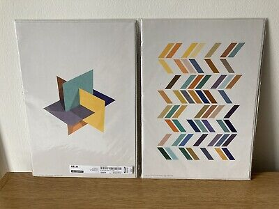 IKEA Geometric Abstract Art Prints X4 A4 Size For Framing Brand New • 2.50£