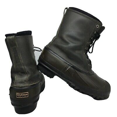 LaCrosse ICEMAN Winter Snow Boots USA Green Leather Men Size 12 US • 43.41£