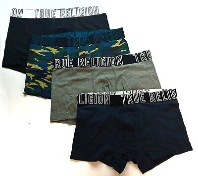 True Religion 4 Pack Fashion Boxer Shorts Premium Cotton Stretch Sizes S/M/L  • 21.95£