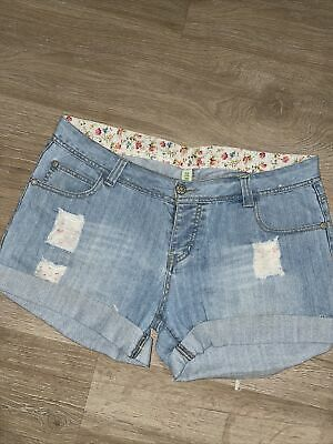Ladies Denim Shorts Size 16 Denim Co • 4.99£
