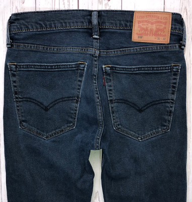 Mens LEVI Strauss 519 Jeans W30 L32 Blue Skinny Leg Fit • 38.99£