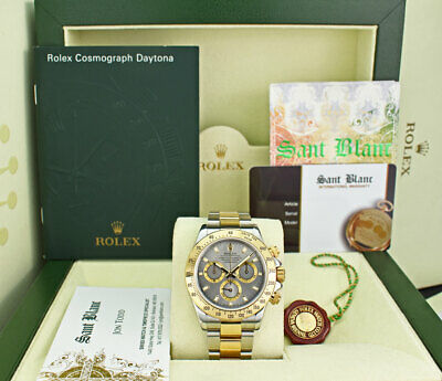 $ CDN22153.36 • Buy ROLEX 18kt Gold & Stainless Steel DAYTONA Slate Index Dial 116523 SANT BLANC