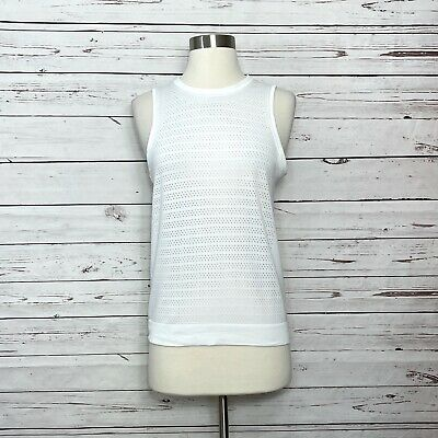 $ CDN45.05 • Buy Lululemon Breeze By Muscle Tank Top Perforated White Size 4