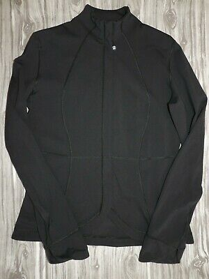 $ CDN31.28 • Buy Lululemon Forme Black Full Zip Athleisure Jacket Scallop Front Size 10 ?