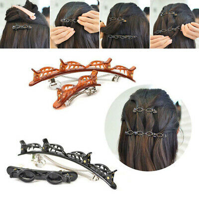 £2.49 • Buy Layer Hair Clips Styling Clip Twist Barrettes Double Bangs Hairstyle Hairpin