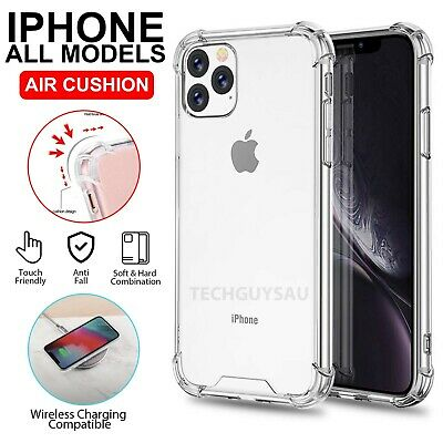 AU7.90 • Buy IPhone 12 11 Pro Max 7 8 Plus X XS XR Clear Case Heavy Shockproof Bumper Cover