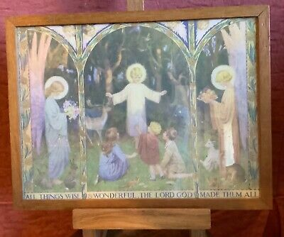 Margaret Tarrant All Things Wise & Wonderful Picture Framed Glazed Religious  • 15£