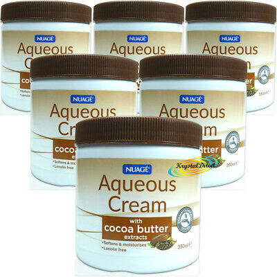 £11.29 • Buy 6x Nuage Aqueous Cream With COCOA BUTTER Extracts Skin Wash Moisturiser 350ml