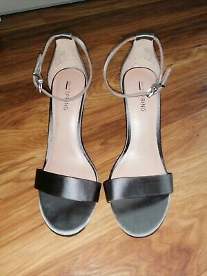 Ladies Debenhams Size 5 Strappy Shoes Silver/pewter • 7.75£