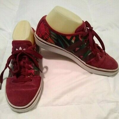 AU25.24 • Buy Adidas Adria Lo  Women's S Sneakers Walking Shoes Red Multi Color Size 7.5