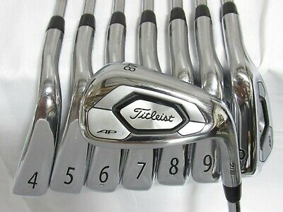 AU259.18 • Buy Used RH Titleist AP3 718 Iron Set 4-P,48* AMT Black Stiff Flex Steel Shafts