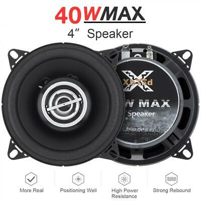 AU28.76 • Buy 4 Inch Car Audio Coaxial Speakers High Mid Bass Ultra-thin Modified Speaker