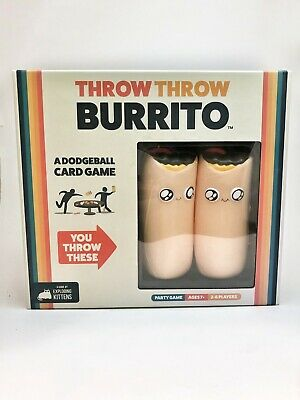 AU28.69 • Buy Throw Throw Burrito By Exploding Kittens: A Dodgeball Card Game — OPEN BOX