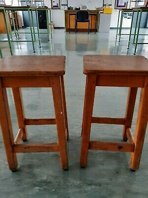 Genuine Science Laboratory Stools. Set Of 2. Idea For Upcycling Project. • 15£