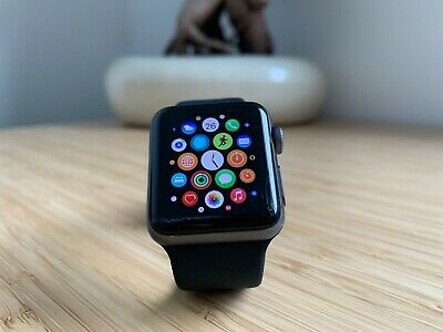 AU179 • Buy Apple Watch Series 3 (GPS + Cellular) 38mm - Aluminium Case - With Black Band