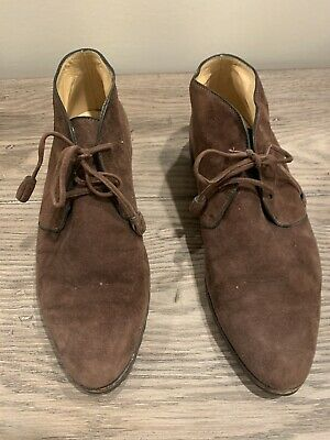 Gucci Women's Brown Suede Desert Boots, Size 38 1/2 B • 32.26£