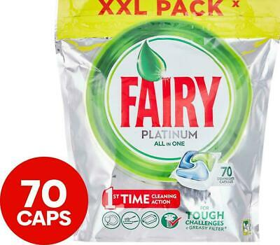 AU27.99 • Buy 70pk Fairy Platinum All-In-One Dishwashing Tablets/Capsules - Free Postage/New