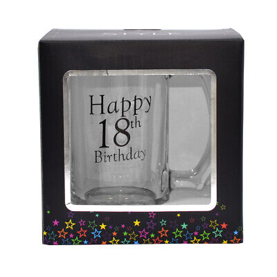18th Birthday Celebrate In Style Glass Tankard In Gift Box Lovely Gift Idea • 10.99£