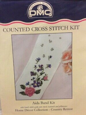 £6.99 • Buy Country Floral Aida Band Cross Stitch Kit - DMC - 4  X 21  - 14 Count