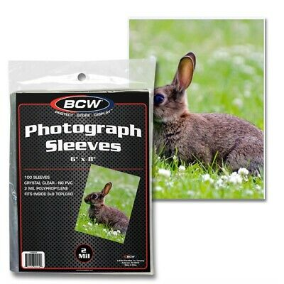 £9.99 • Buy 6 X 8 Inch Photograph Or Postcard Protective Sleeve X 100 Pack