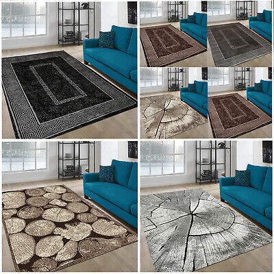 New Black Silver Small Extra Large Huge Area Rugs Big Floor Carpet Rug Mat Cheap • 41.99£