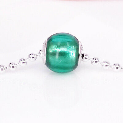 Genuine PANDORA Essence Silver Green Cubic Zirconia CREATIVITY Charm - 796071NSG • 21.85£