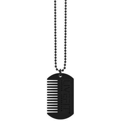 $14.43 • Buy Live Fit ™beard Comb Grooming Dog Tag Necklace - Gym Fitness Lifestyle Fashion