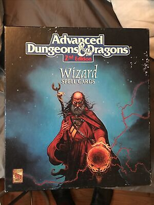 AU89.27 • Buy Dungeons And Dragons Wizard Spell Cards 2nd Edition
