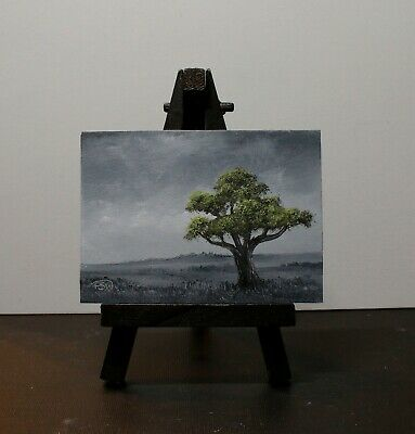 ACEO 2020-019 Original Oil Painting Miniature Landscape On MDF By Pip Walters • 0.99£