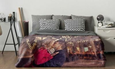 Digital Personalised Soft Fleece Photo Printed Blanket Bed Throw Single, Double • 29.49£