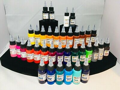 £148.68 • Buy Starbrite Tattoo Ink Black Outlining White All Colors Red Blue Teal Made In USA