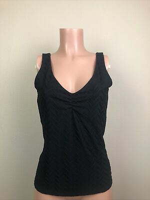 $ CDN10.47 • Buy White House Black Market Women's Medium M Black V-neck Lined Tank Top