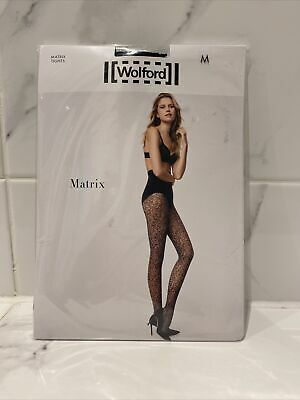 Wolford Matrix Black Tights Size Medium Brand New Chanel Esque Pattern RRP £39 • 3.40£