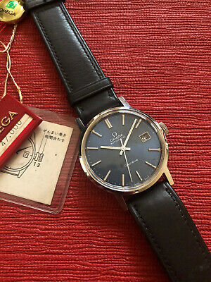 NOS 1970s Omega Geneve Blue Dial Original Stickers Strap & Hang Tag Unworn • 1,200£
