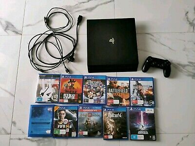AU394 • Buy PS4 Pro 1TB, 1x Controller, 10x Games, Cables | Excellent Condition