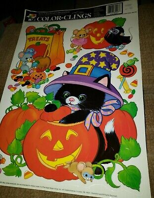 $ CDN8.53 • Buy Vintage Color Clings Window Cling Halloween Decoration 11 X 17