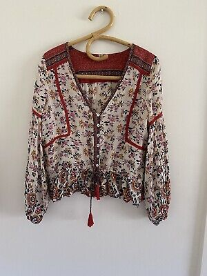 AU99 • Buy Spell Designs Elle Blouse In Rosewood Size S