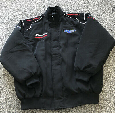 Triumph Daytona Motorcycle Full Zip Coat Jacket - Adults Men's Size Large L • 40£
