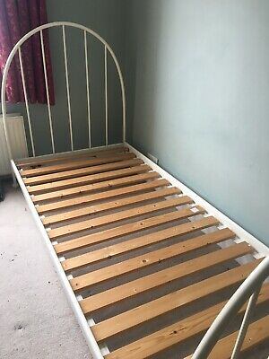 Ikea White Metal Single Day Bed Frame • 17£