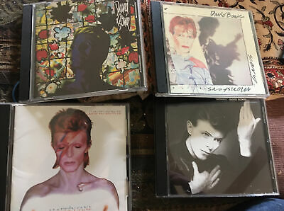 $ CDN6.31 • Buy Lot Of 4 David Bowie Cds Aladdin Sane, Heroes, Tonight And Scary Monsters Used